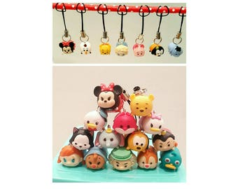 10 TSUM TSUM Party Favors, Cellphone Charm ,Tsum Tsum keychains, Tsum Tsum Party