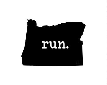 Run OR State Outline Magnet