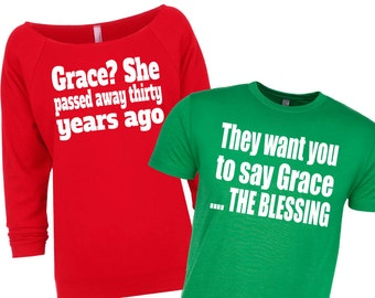 Couple's Christmas Shirts. National Lampoon. Christmas Vacation Shirts. Funny Christmas. Matching Christmas Shirts. Christmas Sweater.