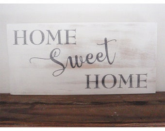 Home sweet home sign - Farmhouse sign - Wedding gift -  Gift for couples - Housewarming gift - Gift for her - Rustic wood sign