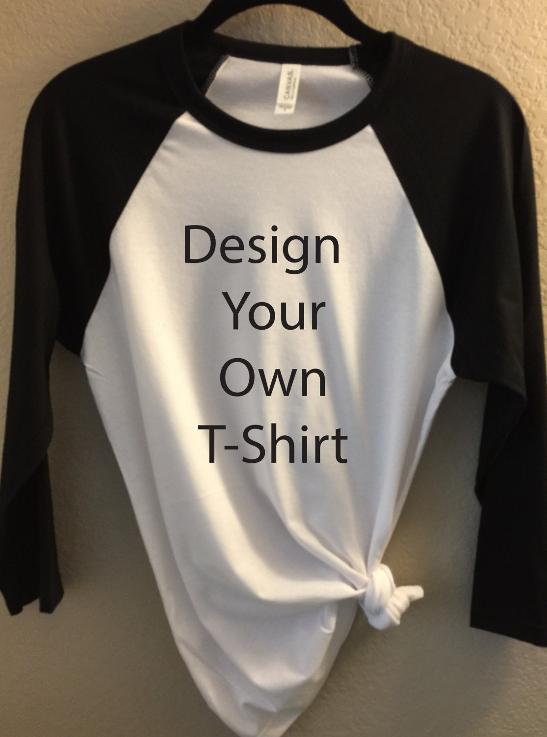 Create Your Own Gift Tags Cards And More Using Avery: Design Your Own T-Shirt Bella Canvas Unisex 3/4 Length