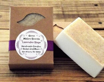 Lavender Sage Luxury Handmade Soap 6.5 Oz
