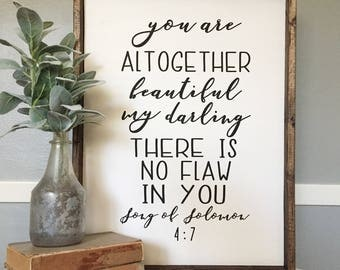 "Song Of Solomon 4:7 ""You Are Altogether Beautiful"""