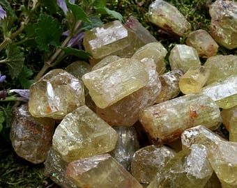Yellow apatite crystals golden apatite crystal rough apatite natural apatite yellow crystals apatite Mexico natural crystal healing crystal
