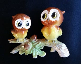 Two Owls on a Branch by Norcrest