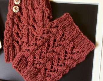 Boot Cuffs.  Lace Boot Toppers. Gift for her.