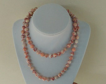 Pink Webbed Jasper Necklace