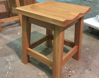 Solid Oak Dining Stool Stool