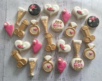 Bachelorette Party Mini Sugar Cookies