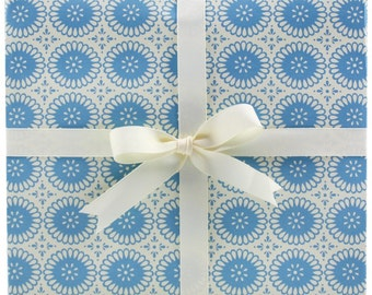 Blue Eyelet Gift Wrap by Smudge Ink