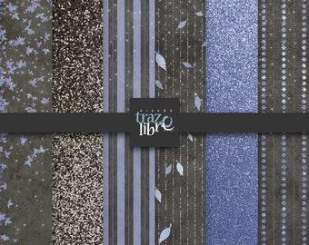 VINTAGE PURPLE DIGITAL Paper | digital clip art | glitter paper | scrapbook paper | vintage purple | digital download | digital purple