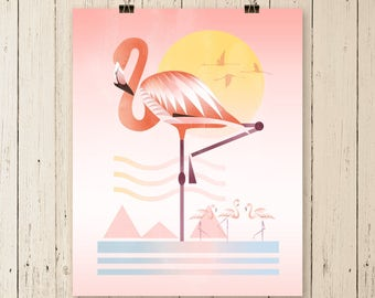 Flamingo Art, flamingo art print, flamingo print, flamingo, flamingo painting, flamingo poster, flamingo artwork, wall art, original artwork