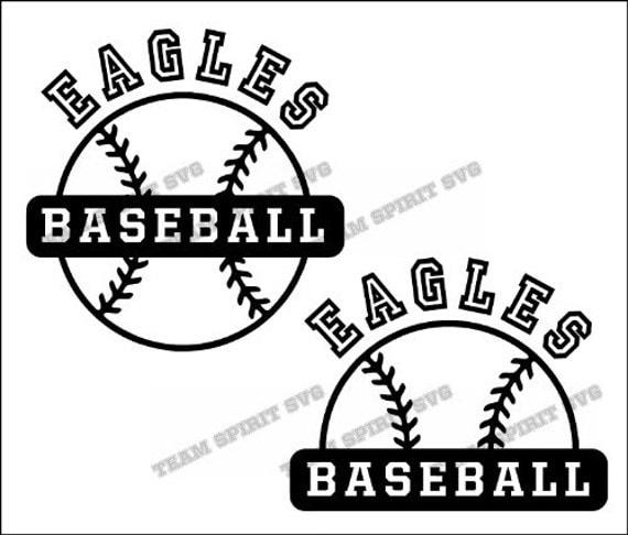 eagles 2 baseball outline download files svg dxf eps