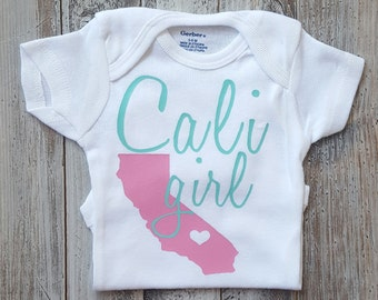 Baby girl clothes, Onesie, Baby girl, Baby clothes, Baby, Baby girl onesie, Onesies, Baby onesies, Baby girl onesies, Cali girl, Baby onesie