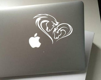 Horse decal-horse sticker-personalized decal-Girls bedroom Car Sticker Vinyl horse head, horse lovers gift Apple laptop Mac book pro