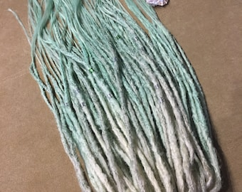 PASTEL dreads. x10 or FULL set of double ended or single ended dreadlocks. Mint  dreads. Blonde dreads extension. ombre dreads