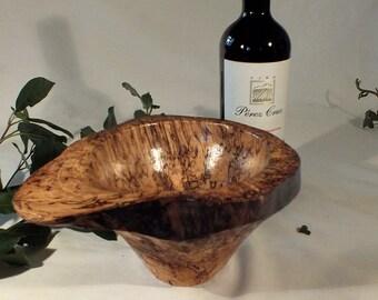 Spalted silver birch bowl