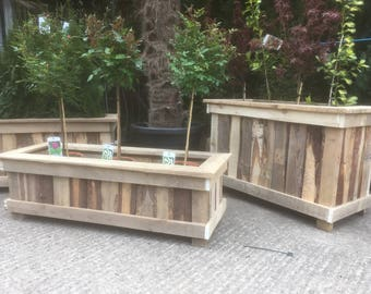 Garden planters made with 100% reclaimed timber