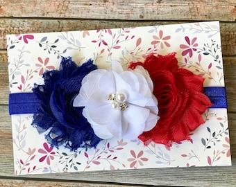 4th of July Headband/4th of July Baby Headband/Patriotic Headband/Baby Headband/Newborn Headband/Baby Girl Headband/Headband/Fourth of July