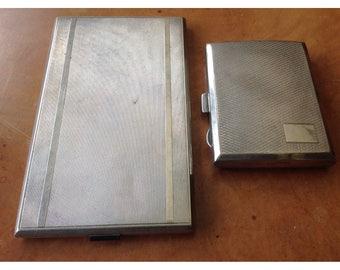 Two silver cigarette case