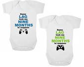 PS4XBox DAMN LAG Took Me Nine Months To RESPAWN      Baby BodysuitBaby GrowOnesieVest Newborn Gift Christening Present Baby Shower