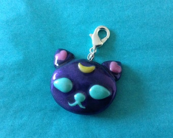 Moon charm the cat fimo
