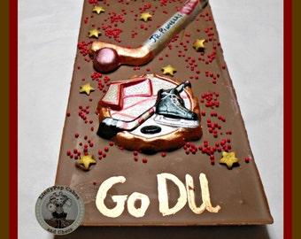 Ice Hockey Chocolate Gift/Hockey Player/Hockey Team/Puck/Ice Skates/Stick/Ice Rink/Male Sports/Mens Gift/Teenager/Teen Boy Sports/Hockey Fan