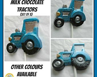 Tractor Chocolate Lollipops/Chocolate Tractor/Farm Vehicle/Farmer/Farmyard/Machinery/Crops/Plough/Boys Birthday/Farm Party/Son/Dad/Grandad