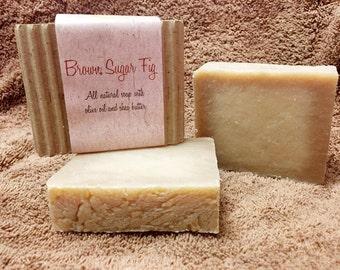 Brown Sugar Fig Goat Milk Handmade Soap