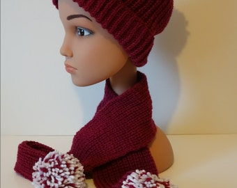 Hat and scarf for child size 18-24 months