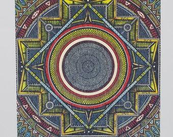 Colour Mandala Birchwood Greeting Card