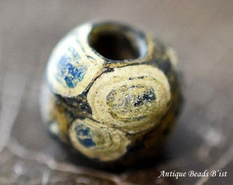 Ancient roman midium pasting many blue eyes beads with silvering【Free shipping】【AB15021】