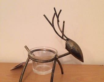 Christmas  Metal Reindeer Tealight Holder
