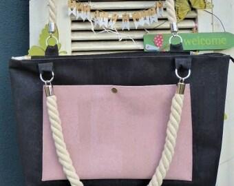 City shopper Cork leather beach bag