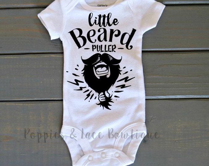 Little Beard Puller Bodysuit, Funny Shirt, Baby Shower Gift, Beard Bodysuit, Dad Shirt