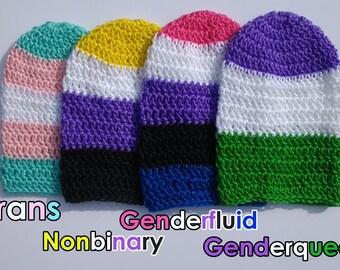 Crochet Pride Flag Slouchy Beanie