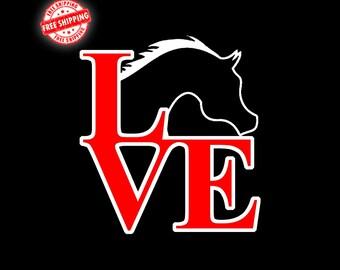 Arabian, Arabian Horse, Arabian Horse Decal, Arab, Love Decal, Horse, Horse Decal, Decals, Stickers, Equine Gift, Car Decals, Laptop Decals