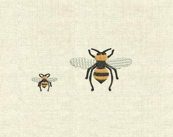 Machine embroidery design bee