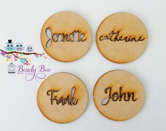 Personalised Wedding Place Cards, Guest Names, Laser Cut Names, Custom Wedding Signs, Wooden Place Names, Arcylic Place Names