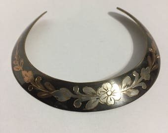 Rigid Necklace - Metallic Necklace - Chocker