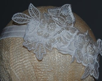 Beautiful Baptism Lace Headband