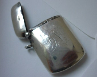 Solid Silver Match Vesta Case with Match Striker by William Hair Hesel