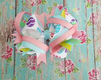 Pastel Easter Egg Hair Bow