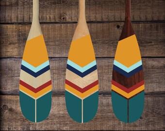 "48"" Paddle -  Arizona - Geometric Design - Art - Wall Hanging - Home Decor - Modern Decor - Unique Gift - Decorative Oar - Cottage - Cabin"