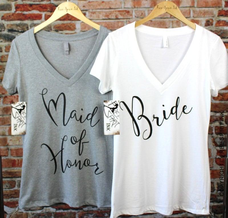 Bride Shirt. Maid Of Honor Shirt. Bridal Shower Gift. Bride