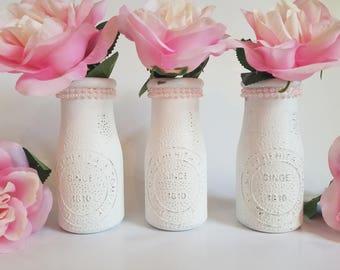 First Birthday Girl - Baby Girl Shower - First Birthday Decorations Girl - Girl Nursery Decor - Pink Milk Bottle -First Birthday Girl -