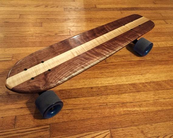 Figured Walnut/Maple Wood Cruiser Skateboard / Penny Board
