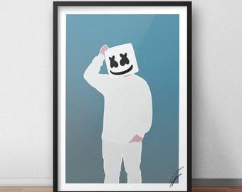 DJ Marshmello INSPIRED Print / Poster