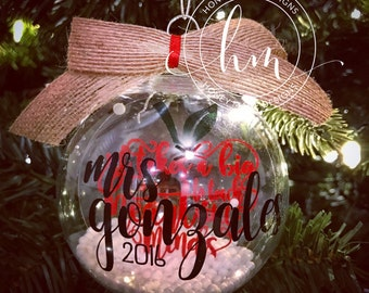 Personalized Floating Teacher Ornament