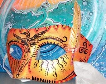 Shamanic bird - shamanic mask bird mask